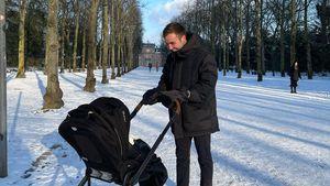 Wie süß! Mario Götze macht Schneespaziergang mit Sohn Rome