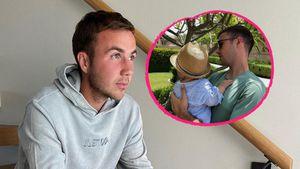 Selten: Mario Götze teilt Schnappschuss mit seinem Sohn Rome