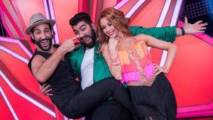 """Massimo Sinató, Faisal Kawusi und Oana Nechiti nach der """"Let's Dance""""-Kennenlern-Show"""