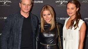 Matt Damon, Kim Gloss und Alicia Vikander in Berlin