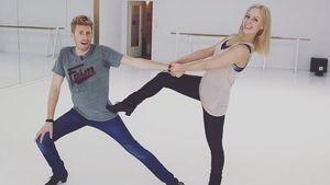 """Maximilian Arland und Isabel Edvardsson beim Training für """"Let's Dance"""""""