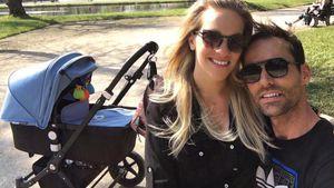 Melissa und Sven Hannawald mit ihrem Baby Glen