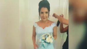 Meltem Acikgöz in ihrem Hochzeitskleid