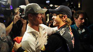 Immer die Nummer 1: Sebastian Vettel ehrt sein Idol Schumi