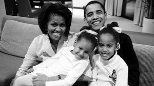 Michelle und Barack Obama mit ihren Töchtern Malia und Natasha