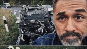 """""""Komplett frittiert"""": Mike Leon Grosch entflieht Auto-Feuer!"""