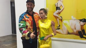 Liam Hemsworth und Miley Cyrus auf der Eröffnung der Kunstausstellung von Vijat Mohindra