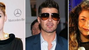 Miley Cyrus, Robin Thicke und Lorde