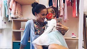 Rocco Starks Freundin Nathalie mit dessen Tochter Amelia