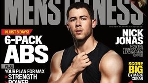 "Nick Jonas auf dem Cover des Magazins ""Men's Fitness"""