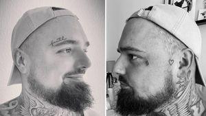 Große Bedeutung: Nik Schröder hat zwei neue Gesichtstattoos