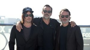 Norman Reedus, Jeffrey Dean Morgan und Andrew Lincoln