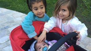 North West und Penelope Disick mit Dream Renee Kardashian