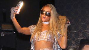 Mehr Glitzer geht nicht! Paris Hilton trägt Funkel-Overkill