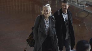 Paris Jackson und Michael Snoddy am Flughafen in Paris
