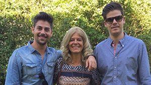 Patrick Cuninka mit seiner Mutter und seinem Bruder