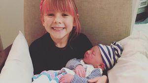 Pinks Tochter Willow mit ihrem Brüderchen Jameson