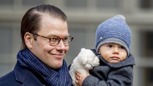 Prinz Daniel mit Sohn Prinz Oscar, März 2017