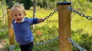 Groß geworden! Putzige neue Fotos von Schweden-Prinz Gabriel