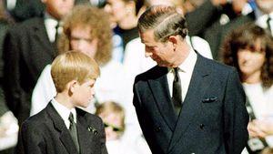 Prinz Harry und Prinz Charles bei Dianas Beerdigung