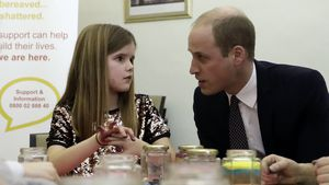 Prinz William beim Besuch des Child Bereavement Centre in Stratford, London