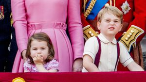 Prinzessin Charlotte, Prinz George bei der Trooping The Colour Parade in London