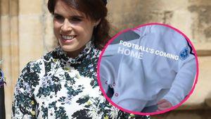Trikot-Strampler: Prinzessin Eugenies Sohn schon Fußballfan
