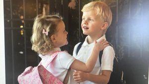 Erster Schultag? Süße Schnappschüsse der Monaco-Zwillinge