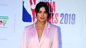 Schick oder Schlafanzug? Priyanka Chopra im rosa Satin-Anzug