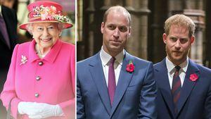 Die Queen will, dass William und Harry sich wieder vertragen