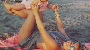 Rebecca Kratz und ihre Tochter Alaia-Claire