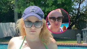 Sexy Blick: Erschlankte Rebel Wilson isst Pfirsich im Pool