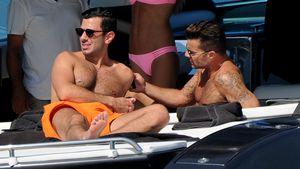 Sexy Männer-Urlaub: Ricky Martin & sein Lover zeigen Haut!