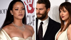 Rihanna, Jamie Dornan und Dakota Johnson
