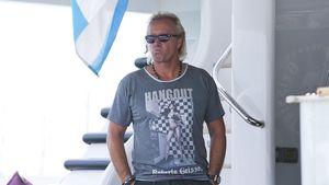 Robert Geiss auf seiner Yacht, August 2014