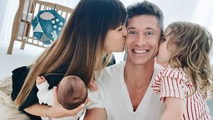 Überglücklich: Kicker Robert Lewandowski zeigt seine Familie