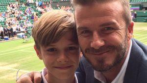 David Beckham und Romeo Beckham