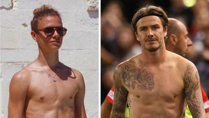 Wie Twins: Romeo Beckham sieht Papa David immer ähnlicher