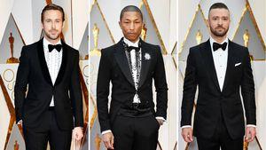 Ryan Gosling, Pharrell Williams und Justin Timberlake bei den Oscars 2017