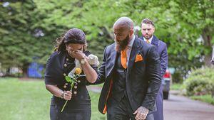 So emotional war die Beerdigung von Ashley Cains Tochter