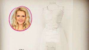 Sara Kulkas Hochzeitskleid und die Miniversion ihrer Tochter