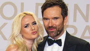 Model Sarah Knappik und Moderator Ingo Nommsen