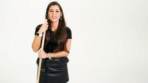 Sarah Lombardi teast die Curling-Show an