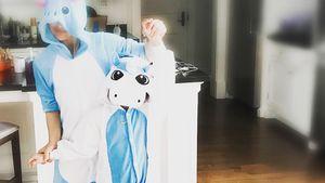 Sarah Michelle Gellar im Einhorn-Kostüm