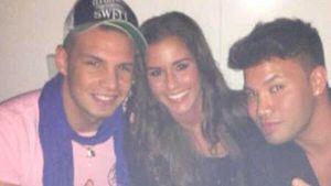 Sarah, Pietro und Rapper Kay One