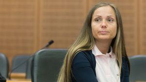 Schwesta Ewa während ihres Prozesses vorm Landgericht Frankfurt