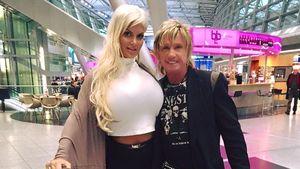 Sophia und Bert Wollersheim am Düsseldorfer Flughafen