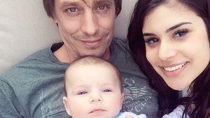 Tanja Tischewitsch, mit Thomas Radeck und Sohn Ben