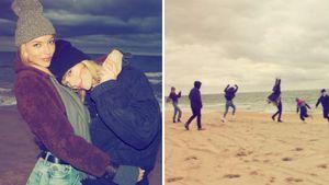 Taylor Swift und ihre Squad am Strand