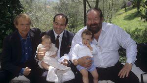 Bud Spencer bei der Taufe seines Enkels im Jahr 1992
